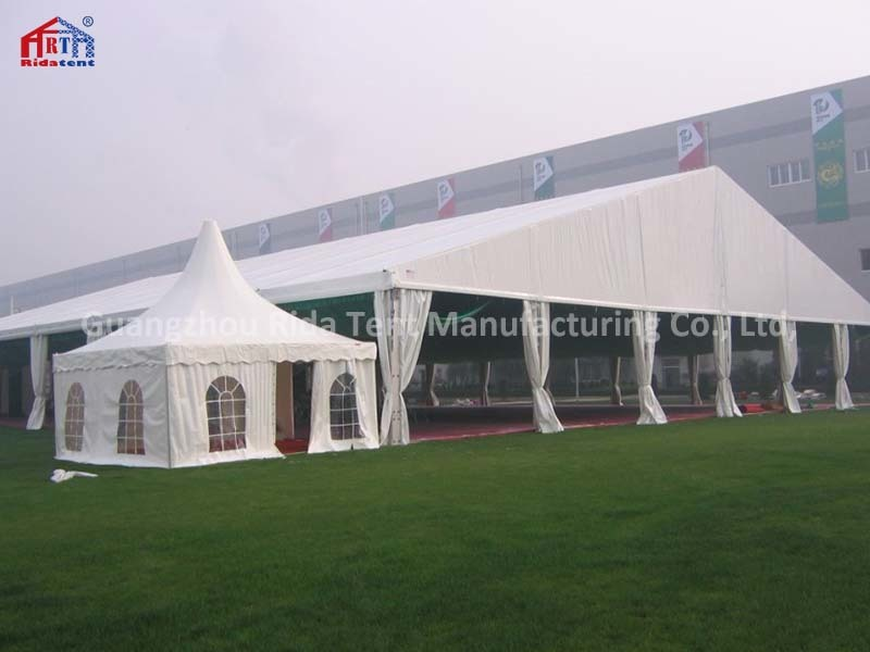 30x60m High Quality Luxury Aluminum Wedding Party Events Tent With 5x5m pagoda