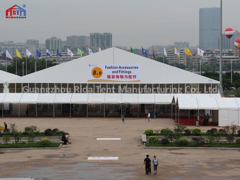 40x80x6m Guangdong Rida Tent Trade Show Exhibition Tent With Transparent ABS Wall