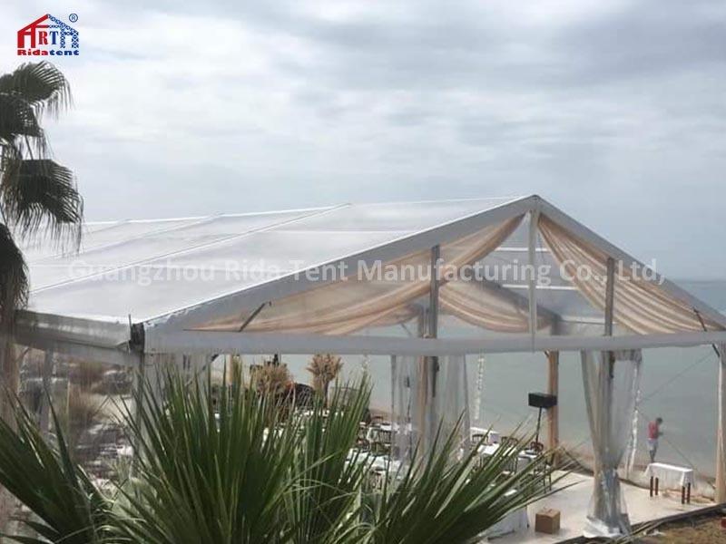 20m x 40m Guangzhou Hot Sale Aluminum Frame Pvc Transparent Tent