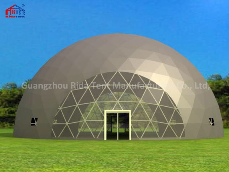 15m Diameter Big Transparent Geodesic Dome Tent For Sale