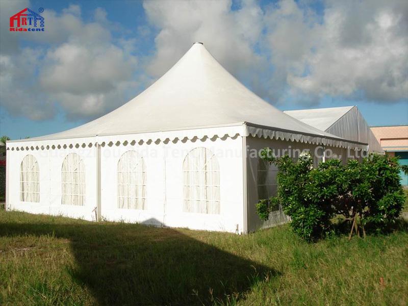 8x8m 10x10m Luxury PVC Cover Aluminum Profile Gazebo Pagoda Tent