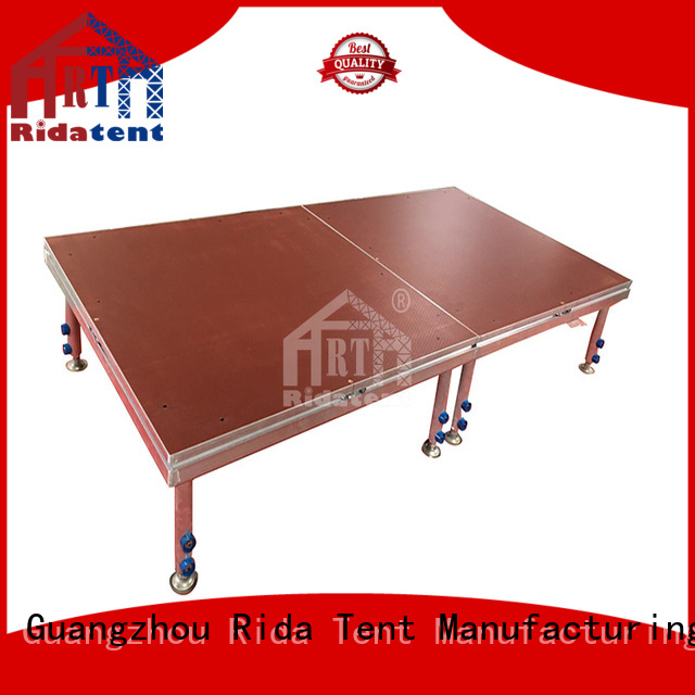 Rida tent removable wooden stage manufacturer for concert