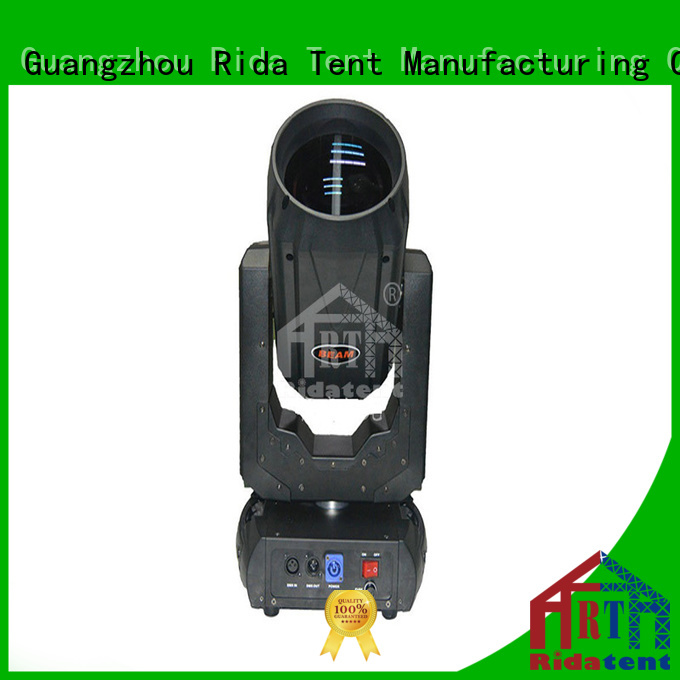 Rida tent practical moving head lighting factory price for stage