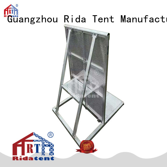 Rida tent folding crowd barriers supplier for outdoor concert
